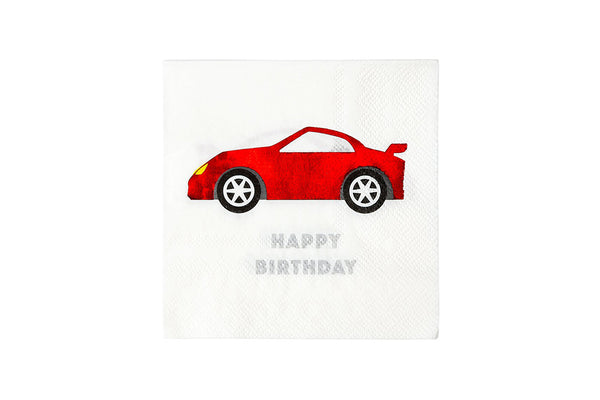 Party Racer Car Napkins-Pop Roc Parties