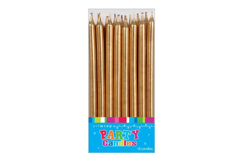 Tall Gold Party Candles