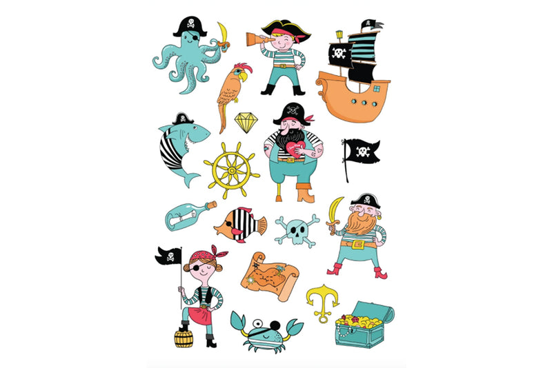Pirate Temporary Tattoos | Pop Roc Parties