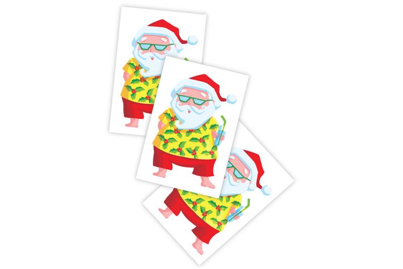 Beach Santa Temporary Tattoos | Pop Roc Parties