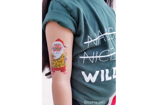 Beach Santa Temporary Tattoos - Pop Roc Parties