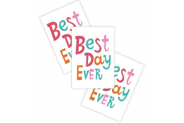 Best Day Ever Temporary Tattoos - Pop Roc Parties