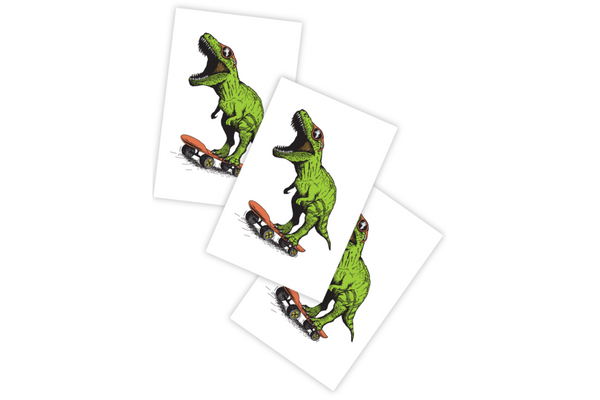 Dino Skate Temporary Tattoos - Pop Roc Parties