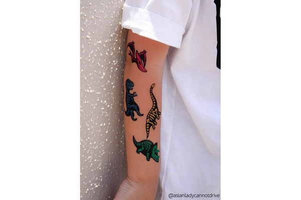 Dino Skeletons Temporary Tattoos | Pop Roc Parties