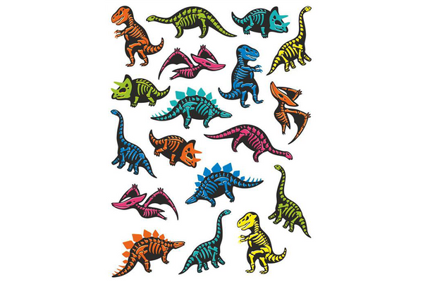Dino Skeletons Temporary Tattoos - Pop Roc Parties