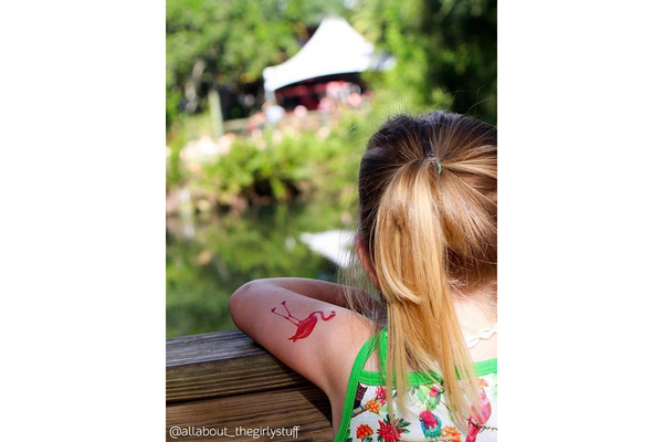 Flamingo Temporary Tattoos - Pop Roc Parties