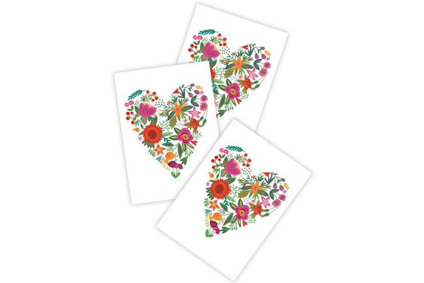 Flower Heart Temporary Tattoos - Pop Roc Parties