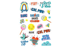 Girl Power Temporary Tattoos | Pop Roc Parties