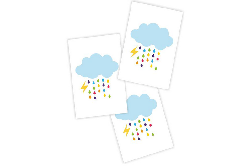 Rain Cloud Temporary Tattoos