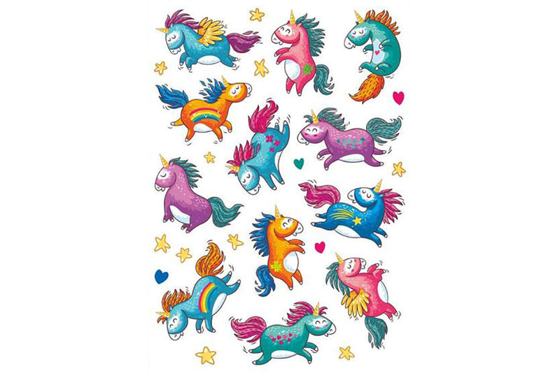 Rainbow Unicorn Temporary Tattoos | Pop Roc Parties