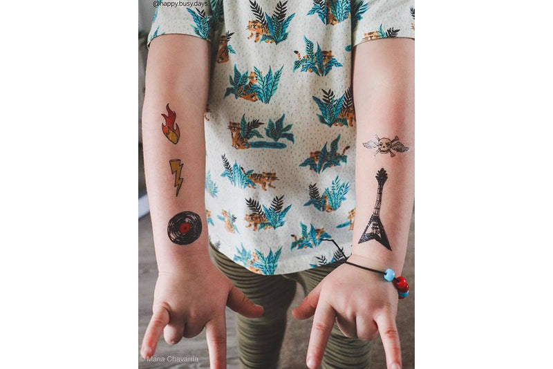 Rock'n'Roll Temporary Tattoos | Pop Roc Parties