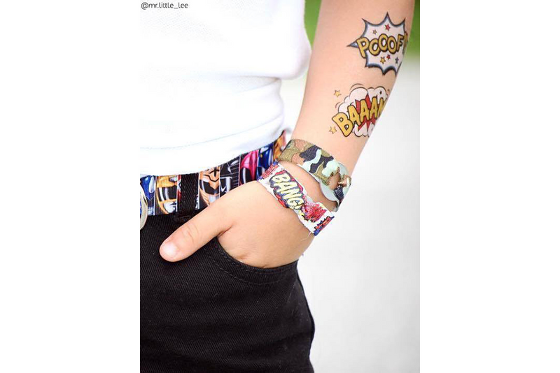 Superhero Baaam! Temporary Tattoos