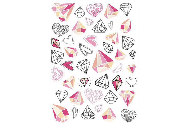 Diamonds Temporary Tattoos - Pop Roc Parties