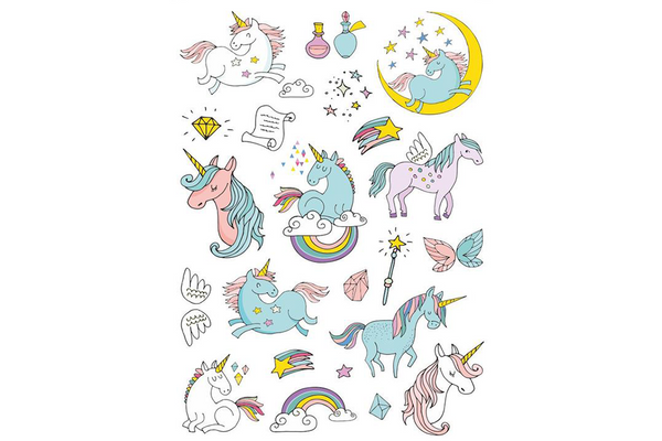 Unicorn Temporary Tattoos | Pop Roc Parties