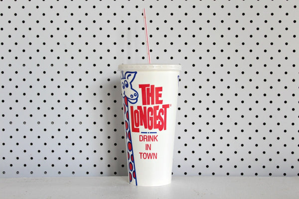 The Longest Drink In Town' Paper Milkshake Cups | Pop Roc Parties