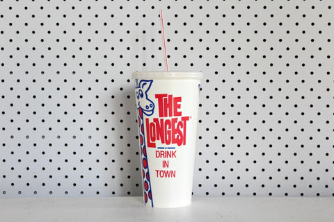 The Longest Drink In Town' Paper Milkshake Cups - Pop Roc Parties