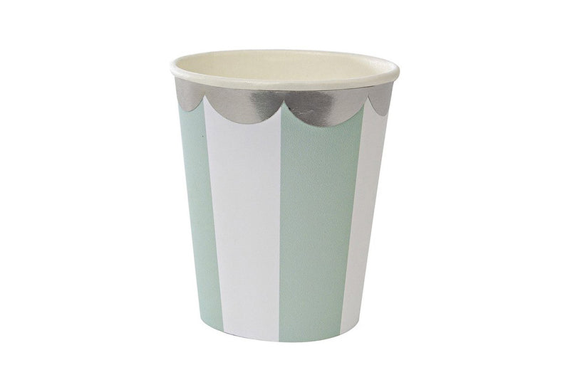 Toot Sweet Mint Stripe Party Cups | Pop Roc Parties