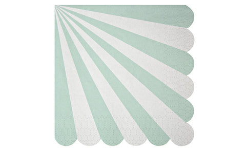 Toot Sweet Mint Stripe Small Napkins
