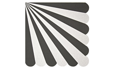 Toot Sweet Black Stripe Small Napkins - Pop Roc Parties