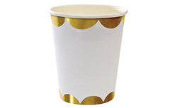 Toot Sweet Gold Scallop Party Cups | Pop Roc Parties