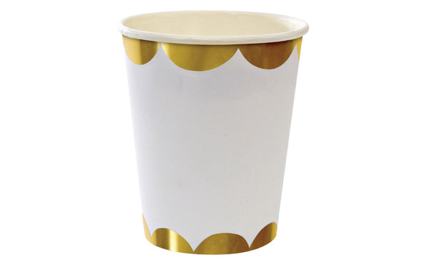 Toot Sweet Gold Scallop Party Cups - Pop Roc Parties