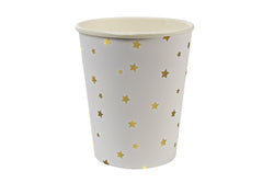 Toot Sweet Gold Stars Party Cups | Pop Roc Parties