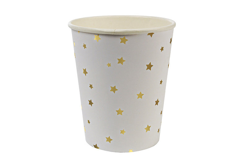 Toot Sweet Gold Stars Party Cups - Pop Roc Parties