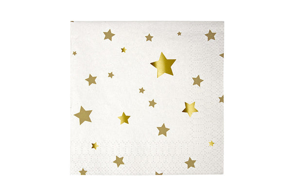 Toot Sweet Gold Stars Small Napkins | Pop Roc Parties