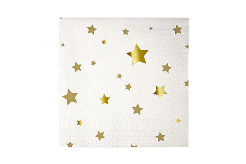 Toot Sweet Gold Stars Small Napkins