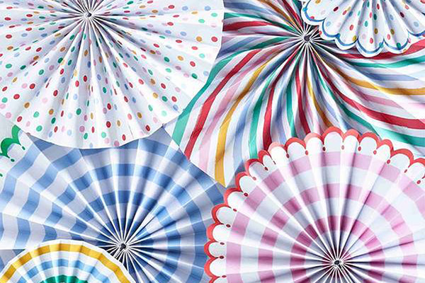 Toot Sweet Multi-Coloured Pinwheel Decorations-Pop Roc Parties