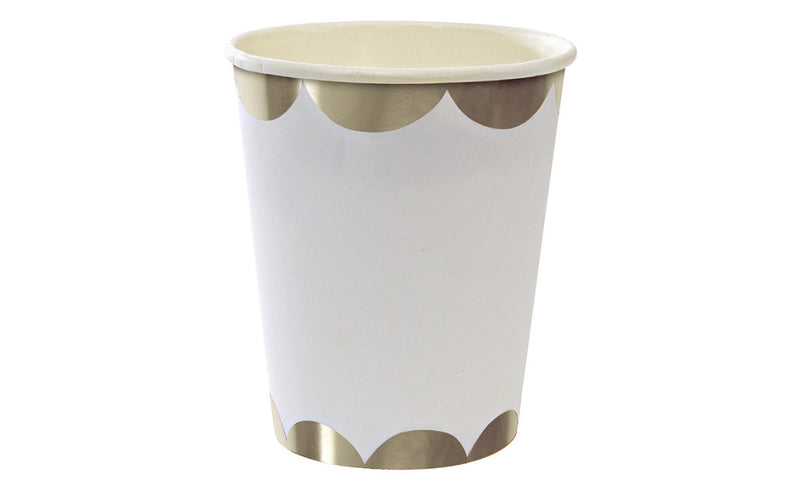 Toot Sweet Silver Scallop Party Cups - Pop Roc Parties