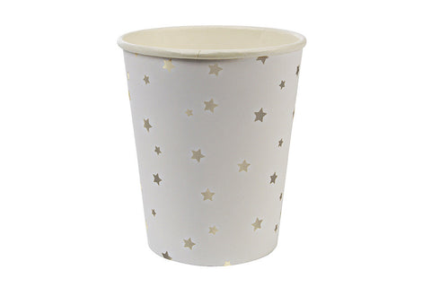 Toot Sweet Silver Stars Party Cups