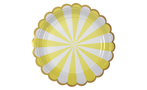 Toot Sweet Yellow Striped Plates