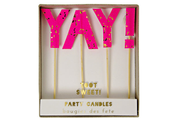Toot Sweet YAY Party Candles - Pop Roc Parties