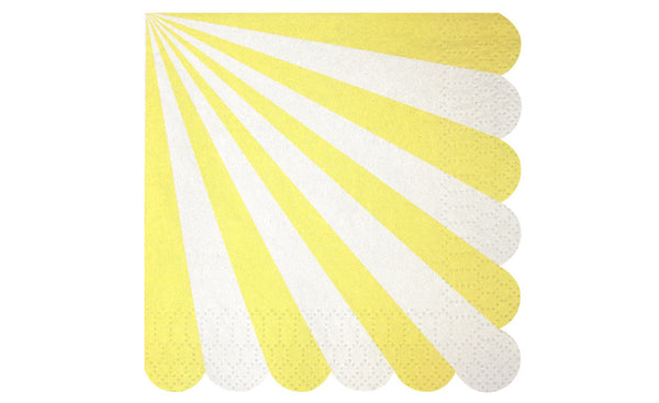 Toot Sweet Yellow Stripe Small Napkins - Pop Roc Parties