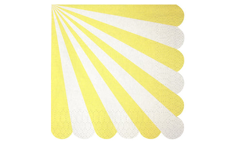 Toot Sweet Yellow Stripe Small Napkins