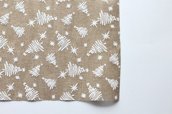 Christmas Tree Burlap Placemats - Pop Roc Parties