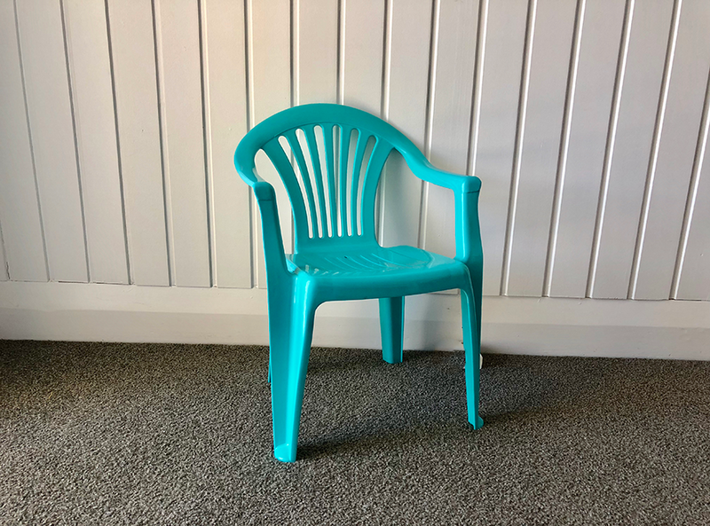 Turquoise Chair - Pop Roc Parties