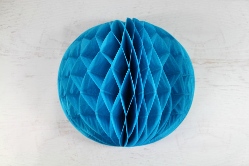 Turquoise Tissue Honeycomb Balls - Pop Roc Parties