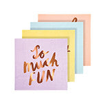 Meri Meri Typographic Napkins - Pop Roc Parties
