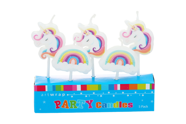 Unicorn Rainbow Candles