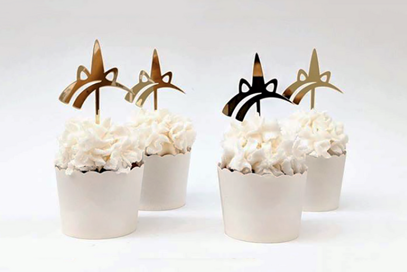 Gold Unicorn Cupcake Toppers | Pop Roc Parties