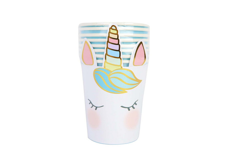 We Heart Unicorn Face Cups | Pop Roc Parties