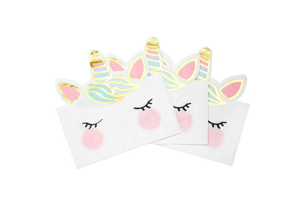 We Heart Unicorn Face Napkins | Pop Roc Parties
