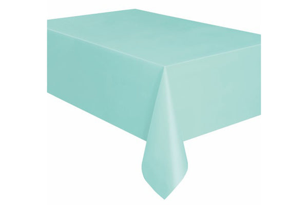 Mint Plastic Table Cover | Pop Roc Parties