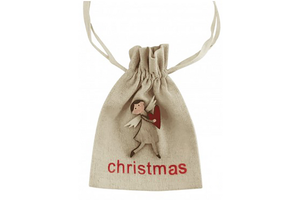 Christmas Angel Calico Gift Bag | Pop Roc Parties