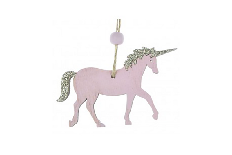Pink Wooden Unicorn Hanging Decoration