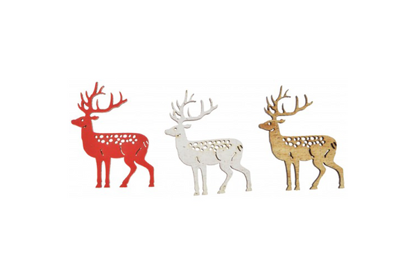 Natural, Red & White Reindeer Scatters