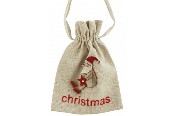 Christmas Santa Calico Gift Bag | Pop Roc Parties