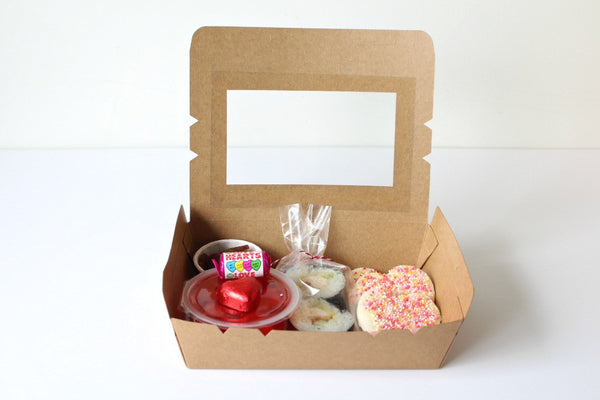 Kraft Medium Window Favour Boxes | Pop Roc Parties